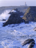 Pointe De Poulains View from Ster Vraz, Nw Coast, Belle-Ile-En-Mer, Brittany, France Photographic Print by J P De Manne
