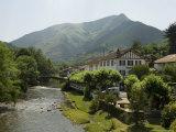 River Nive, Saint Etienne De Baigorry (St.-Etienne-De-Baigorry), Basque Country, Aquitaine, France Photographic Print by Robert Harding