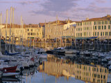 Reflections in the Harbour, Le Port Du Quai De La Poithevinieres, Charente Maritime, France Photographic Print by J P De Manne