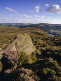 Whinstone Lee Tor and Derwent Moors, Derwent Edge, Peak District National Park, Derbyshire, England Photographic Print by Neale Clarke