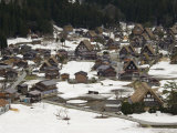 Snow on Gassho Zukuri Houses, Honshu, Japan Photographic Print by Chris Kober