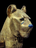 Head of a Funerary Couch in the Form of a Cheetah or Lion, Thebes, Egypt 写真プリント : ロバート・ハーディング
