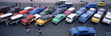 Aerial View of Taxi Stand, Capitol Square, Havana, Cuba, West Indies, Central America Photographic Print by Bruno Morandi