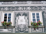Detail of Decoration on Renaissance House in Janska Street, Mala Strana, Prague, Czech Republic Photographic Print by Richard Nebesky