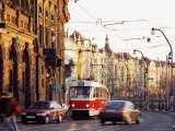 Tram, Prague, Czech Republic Photographic Print by Richard Nebesky