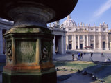 St. Peters Square, and St. Peters Christian Basilica, Centre of Roman Catholicism, Lazio, Italy Photographic Print by Sylvain Grandadam