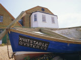 Fishing Boat on the Beach, England, UK. Whitstable is Popular for It's Oyster and Fish Restaurants. Photographic Print by Jean Brooks