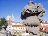 Baroque Statue at Vrtbovska Garden, Czech Republic, Europe Photographic Print by Richard Nebesky