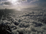 Foam off the Pacific Ocean on Coast Near Westport, Washington State, North America Photographic Print by Aaron McCoy