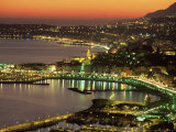 Late Evening View Over Menton, Alpes Maritimes, Provence, France, Mediterranean Photographic Print by Sergio Pitamitz