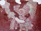 Murals at Teotihuacan, North of Mexico City, Mexico Photographic Print by Robert Harding