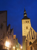 The 15th Century Niguliste Church Lit up at Night, Tallinn, Estonia Photographic Print by Chris Kober