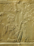 Detail of Queen Ankhesenamun on the Gilded Shrine, Thebes, Egypt Photographic Print by Robert Harding