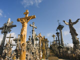 Hill of Crosses (Kryziu Kalnas), Thousands of Memorial Crosses, Lithuania, Baltic States Photographic Print by Christian Kober