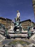 Neptune Fountain, Piazza Della Signoria, Florence, Tuscany, Italy Photographic Print by Sergio Pitamitz