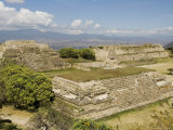 Looking West in the Ancient Zapotec City of Monte Alban, Near Oaxaca City, Oaxaca, Mexico Photographic Print by Robert Harding