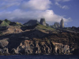 Rocks, Puamau Bay, Ua Pou Island, Marquesas Islands Archipelago, French Polynesia Photographic Print by J P De Manne