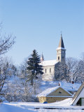 Catholic Church in Village of Luceny Nad Nisou, Liberecko, Czech Republic Photographic Print by Richard Nebesky