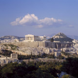 Skyline of the Acropolis with Lykabettos Hill in the Background, Athens, Greece Photographic Print by Roy Rainford