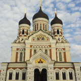 The 19th Century Russian Orthodox Alexander Nevsky Cathedral on Toompea, Old Town,Tallinn, Estonia Photographic Print by Chris Kober