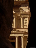 The Treasury Building at the End of the Siq, Petra, Jordan, Middle East Photographic Print by Sergio Pitamitz