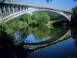 Thomas Telford's Bridge, Built 1826 Over the River Severn, Holt Fleet, Worcestershire, England, UK Photographic Print by David Hunter