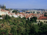 Prague Castle from Petrin Gardens and Rooftops of Mala Strana, Hradcany, Prague, Czech Republic Photographic Print by Richard Nebesky