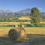 Straw Bales in Fields, Sardinia, Italy, Europe Photographic Print by John Miller