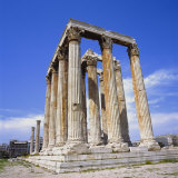 Temple of Olympian Zeus, Athens, Greece, Europe Photographic Print by Roy Rainford