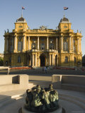 Croatian National Theatre, Neo-Baroque Architecture Dating from 1895, Zagreb, Croatia Photographic Print by Chris Kober