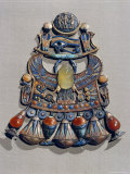 Pectoral in Gold Cloisonne with Semi-Precious Stones and Glass-Paste, Thebes, Egypt 写真プリント : ロバート・ハーディング