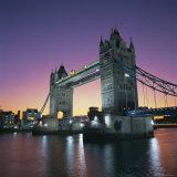 Evening, Tower Bridge and River Thames, London Fotografisk tryk af Roy Rainford