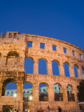 The 1st Century Roman Amphitheatre Bathed in Early Evening Light, Pula, Istria Coast, Croatia Photographic Print by Chris Kober