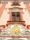 Detail of Baroque Decoration on Facade of Building, Karlovarsky Region, Czech Republic Photographic Print by Richard Nebesky