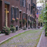 Beacon Hill, Acorn Street, Boston, Massachusetts, New England, USA Photographic Print by Roy Rainford