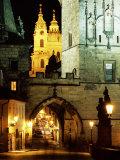 Romanesque and Gothic Malostranske Bridge Towers, Prague, Czech Republic Photographic Print by Richard Nebesky