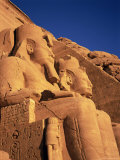 Large Carved Seated Statues of the Pharaoh, Temple of Rameses II, Nubia, Egypt Photographic Print by Sylvain Grandadam