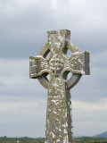 Celtic Style Cross in Graveyard, Connacht, Republic of Ireland (Eire) Photographic Print by Gary Cook