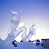 Ice Carving, Mombetsu Ice Festival, Hokkaido, Japan Photographic Print by Rob Mcleod
