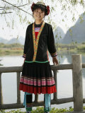 Young Woman of Yao Minority Mountain Tribe, Guangxi Province, China Photographic Print by Angelo Cavalli