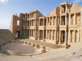The Theatre, Sabrata (Sabratha), Unesco World Heritage Site, Tripolitania, Libya Photographic Print by Nico Tondini