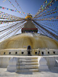 Buddhist Stupa Known as Boudha at Bodhanath, Kathmandu, Nepal. Taken at Lhosar Photographic Print by Don Smith
