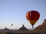 Formations in Valley of the Gods with Two Hot Air Balloons, Near Mexican Hat, Utah Photographic Print by James Hager
