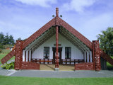 Maori Marae, or Meeting House, at Putiki, North Island, New Zealand Photographic Print by Robert Francis