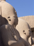 Statues of Pharaohs in the Temple of Amun (Amon), Unesco World Heritage Site, Egypt Photographic Print by Nico Tondini