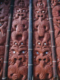Replica Village at the Maori Arts and Crafts Institute, North Island, New Zealand Photographic Print by Robert Francis