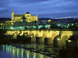 Mezquita (Cathedral) and Puente Romano (Roman Bridge), Cordoba, Andalucia (Andalusia), Spain Photographic Print by Colin Brynn