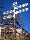 1920s Filling Station, Historic Route 66, Luther, Oklahoma Lámina fotográfica por Cummins, Richard