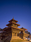 Orion in Sky at Dawn Above Pagoda Temple, Unesco World Heritage Site, Nepal Photographic Print by Don Smith
