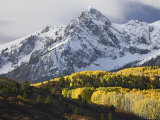 Sneffels Range with Aspens in Fall Colors, Near Ouray, Colorado Photographic Print by James Hager